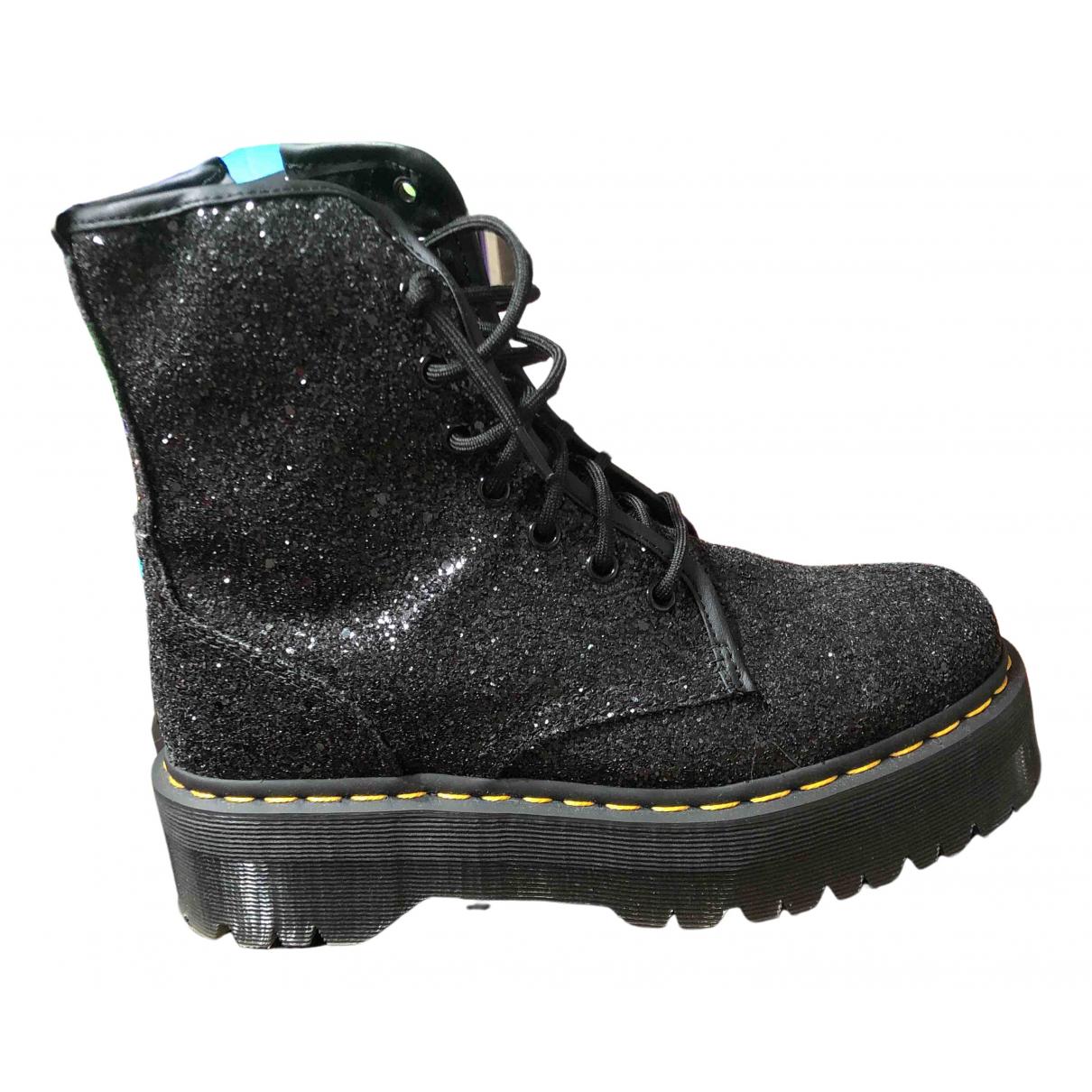 Dr. Martens N Black Glitter Ankle boots for Women 7 UK