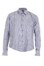 Gardeur Herren Hemd gestreift blau weiß