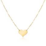 Gravierbare Herzkette für Damen aus 375er Gold