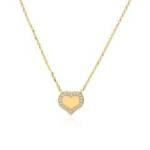 Gravur Herzkette für Damen aus 375er Gold mit Zirkonia