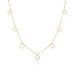 Herzkette für Damen aus 375er Gold
