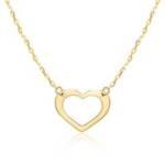 Herzkette für Damen aus 9-karätigem Gold