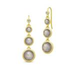 Julie Sandlau Ohrringe - Moon Chandelier Earrings - in gold - für Damen