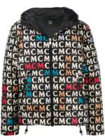 MCM Daunenjacke mit Logo-Print - Schwarz