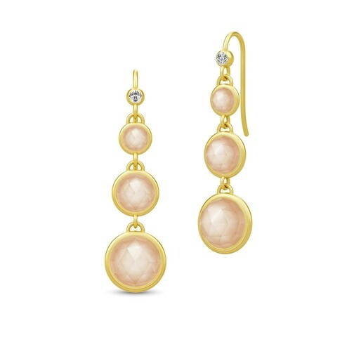 Ohrringe Moon Chandelier Earrings Gold/Peach gold