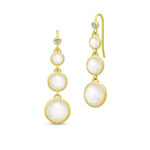 Ohrringe Moon Chandelier Earrings gold