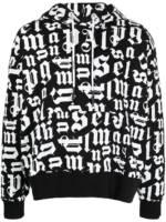 Palm Angels Kapuzenpullover mit durchgehendem Logo-Print - Schwarz