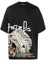 Palm Angels T-Shirt mit Print - Schwarz