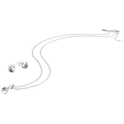 """Pandora Schmuck-Set Geburtssteine April """"B800371"""", 925er Silber, weiß"""
