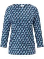 Rundhals-Shirt 3/4-Arm Bogner blau Größe: 36