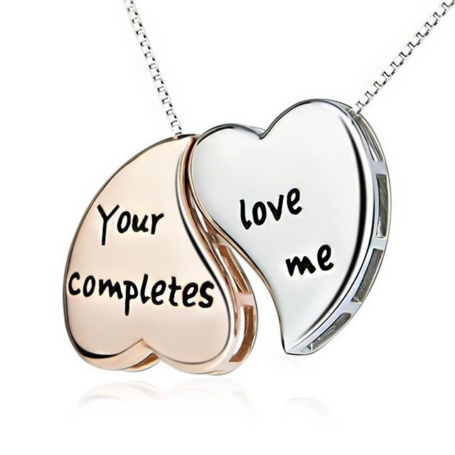 "Schmuck-Elfe Partnerkette ""YOur Love completes me"" (inkl. Schmuckbox), 4tlg. Set aus 925 Sterling Silber"