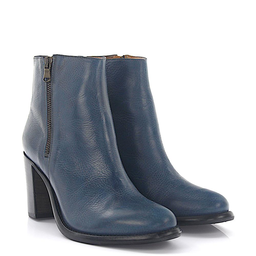 Stiefeletten Boots 481 Leder blau