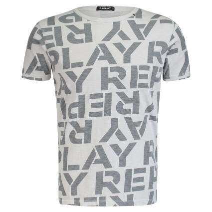 T-Shirt mit All-Over Logo-Print
