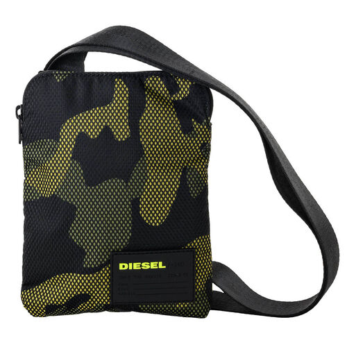 DIESEL Herren Schultertasche - Crossbody Bag, gelb/schwarz