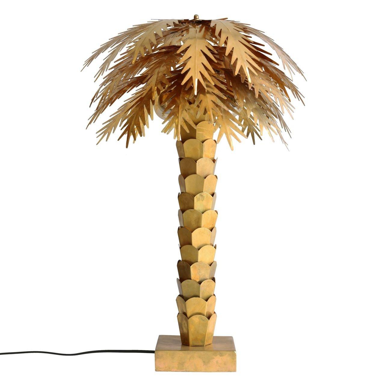 HK living brass palm Tischlampe