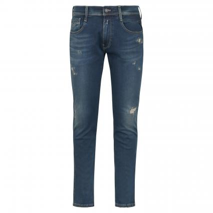Slim-Fit Jeans 'Anbass Hyperflex' mit Destroyed-Elementen