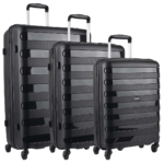 Travelite Nova 4-Rollen Trolley Set 3-teilig Schwarz