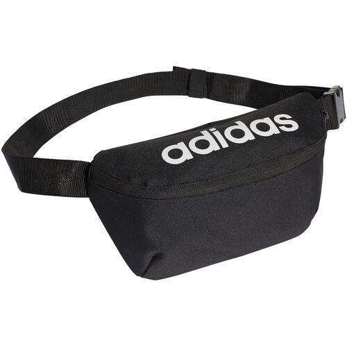 adidas Bauchtasche, Schriftzug, Logo, Reißverschlusstasche, schwarz, 0