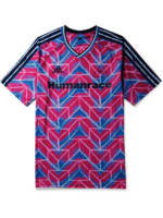 ADIDAS CONSORTIUM - Pharrell Williams Human Race Logo-Appliquéd Printed Stretch-Jersey T-Shirt - Men - Red - S