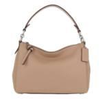 Coach Hobo Bag - Soft Pebble Leather Shay Crossbody - in beige - für Damen