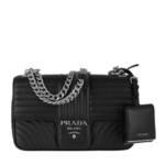 Prada Crossbody Bags - Diagramme Shoulder Bag Medium Leather - in schwarz - für Damen