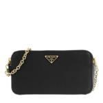 Prada Crossbody Bags - Dual Zip Shoulder Bag Leather - in schwarz - für Damen