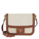 Prada Crossbody Bags - Emblème Logo Plague Shoulder Bag Calf - in bunt - für Damen