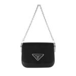 Prada Crossbody Bags - Shoulder Bag Nylon Leather - in schwarz - für Damen