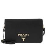 Prada Crossbody Bags - Wallet On Chain Leather - in schwarz - für Damen