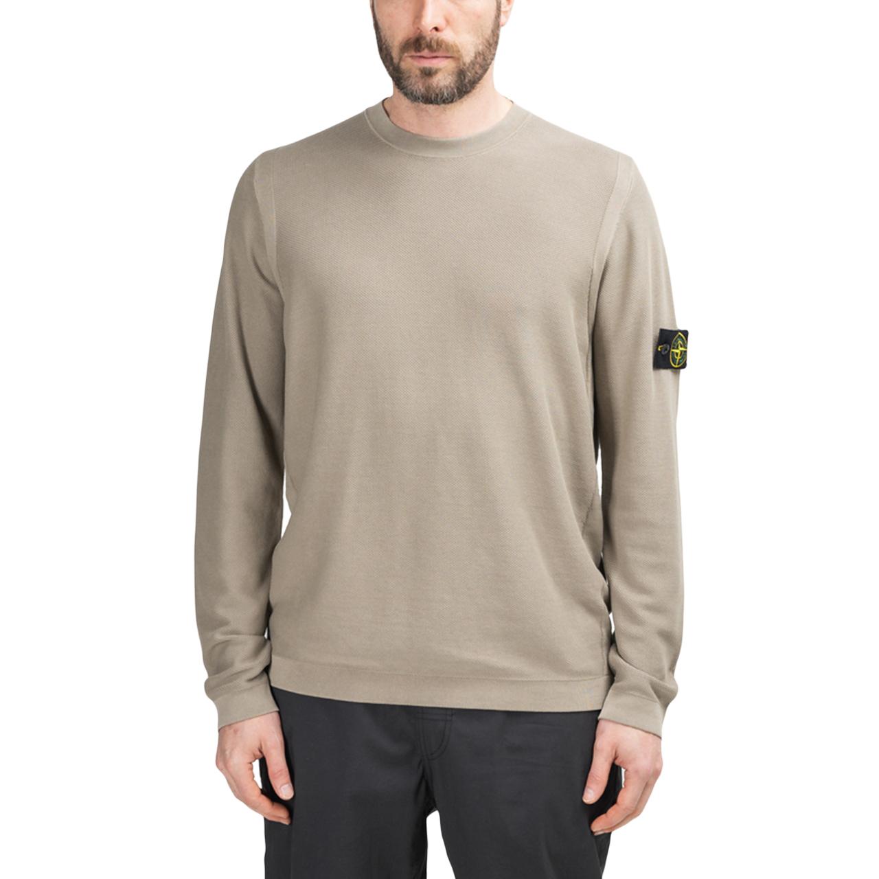 Stone Island Pigment DYE Knit Pullover (Dunkelbeige)