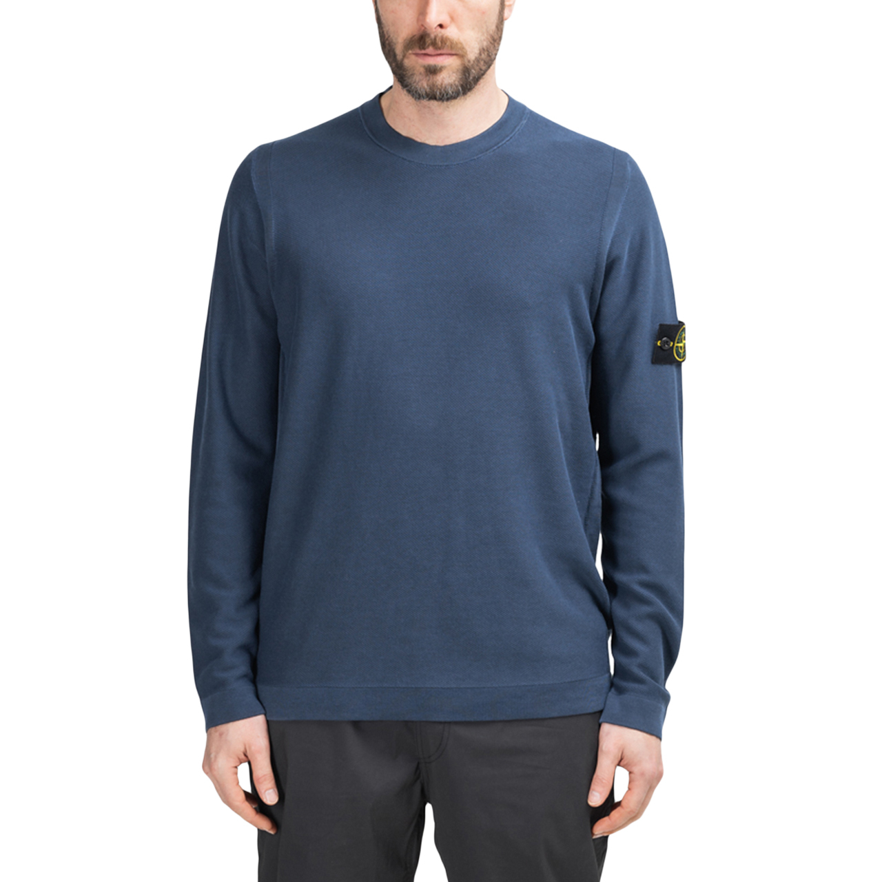 Stone Island Pigment DYE Knit Pullover (Navy)