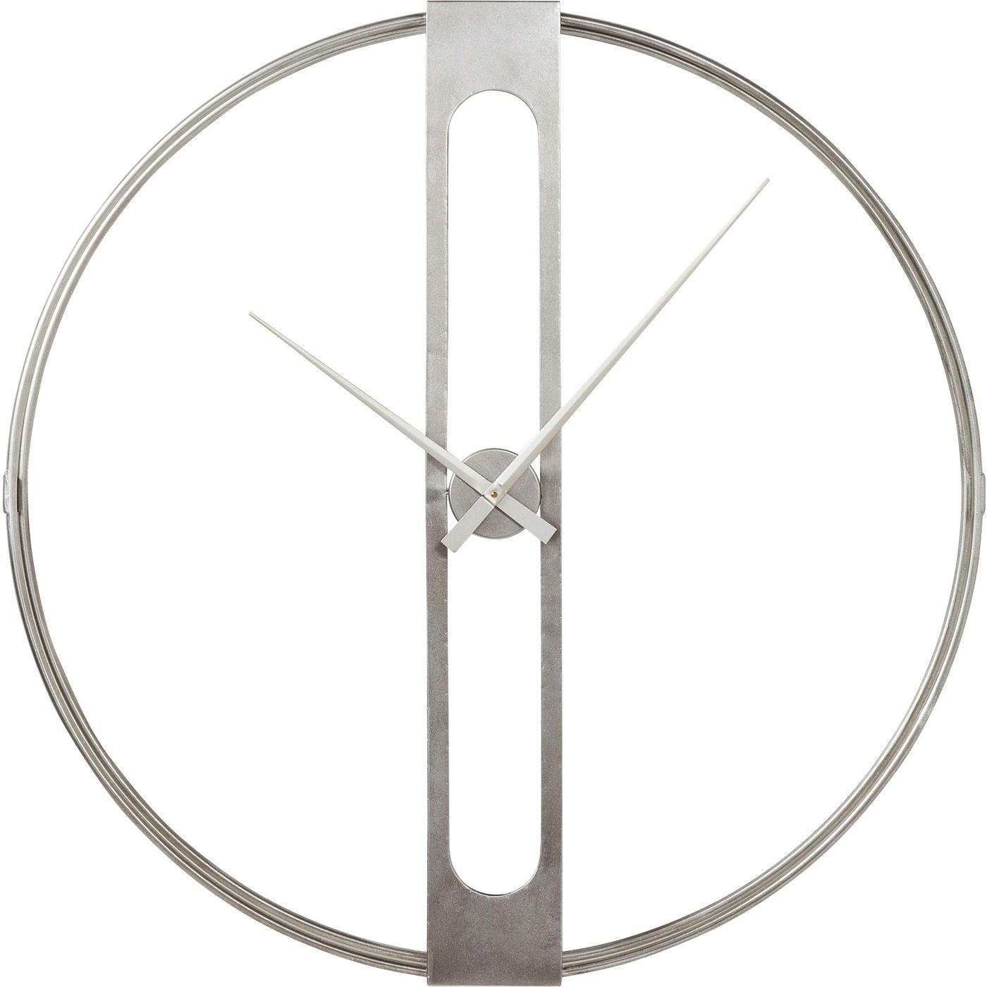 Wanduhr Clip Silber Ø107cm