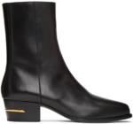 AMIRI Black Square Toe Chelsea Boots