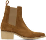 AMIRI Brown Suede Pointy Toe Chelsea Boots