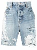 AMIRI Jeans-Shorts im Distressed-Look - Blau
