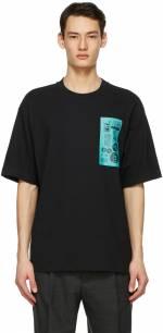Acne Studios Black Dizonord Edition Printed T-Shirt