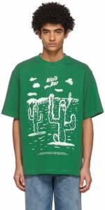 Acne Studios Green Beni Bischof Edition 'Nici's Bar' T-Shirt