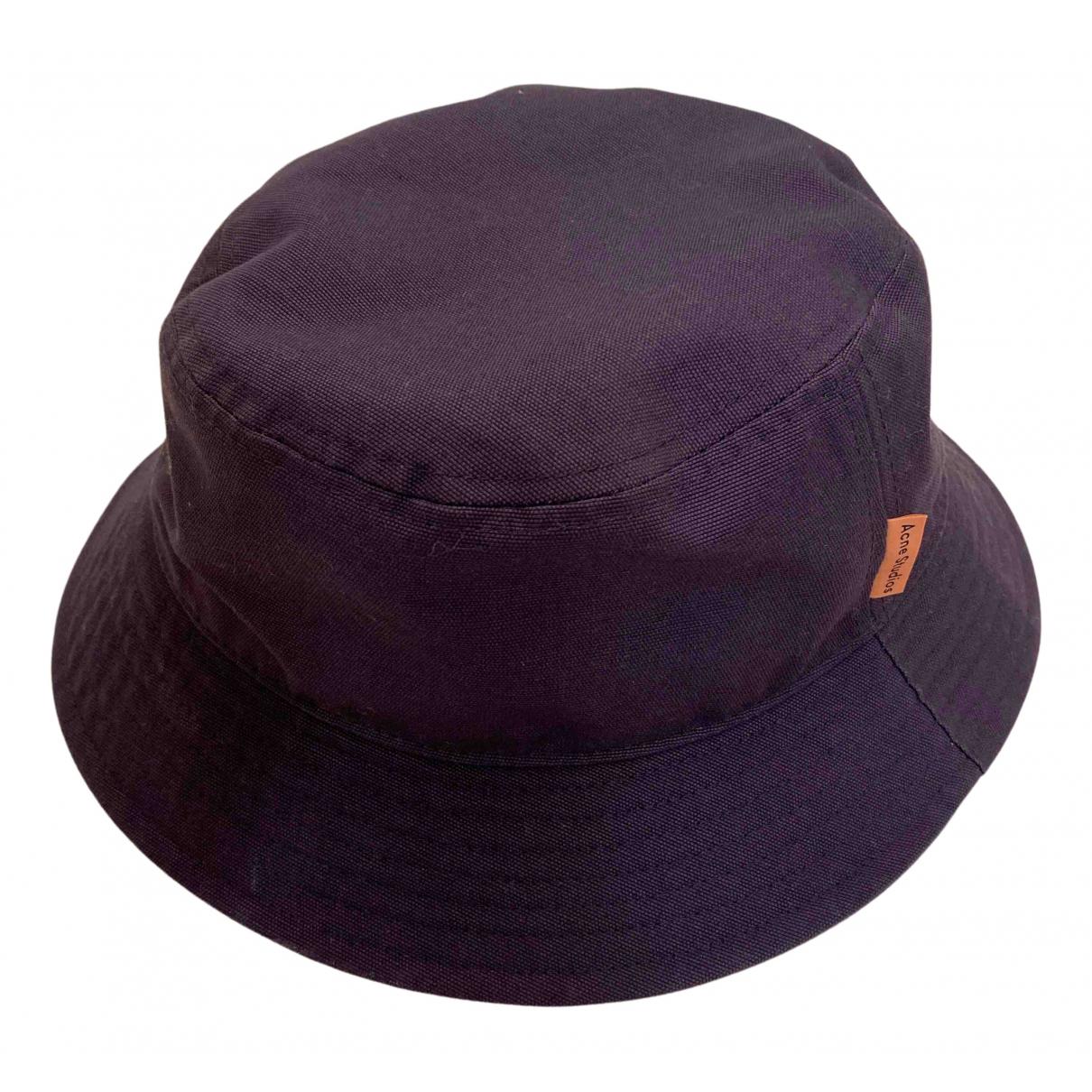 Acne Studios blue Cotton Hats