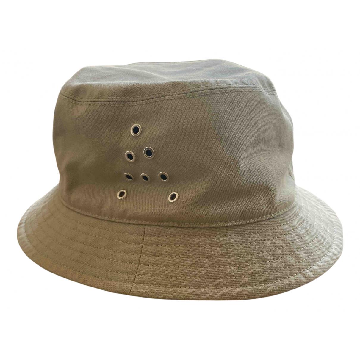 Acne Studios khaki Cotton Hats
