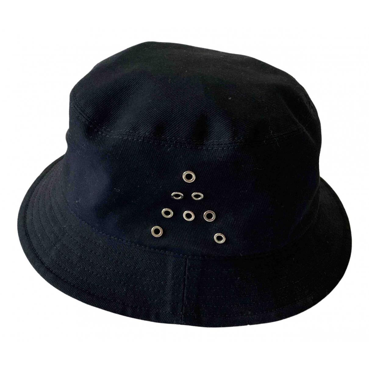 Acne Studios navy Cotton Hats