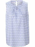 Ärmellose Bluse Eterna blau Größe: 36