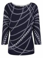 Alba Moda 3/4 Arm-Pullover mit exklusivem Alba Moda Print