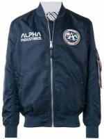 Alpha Industries 'NASA' Bomberjacke - Blau