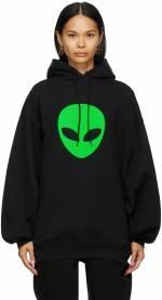 Balenciaga Black Alien Sport Hoodie