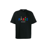 Balenciaga Paris Print T-shirt Tee Black