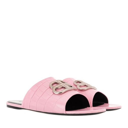 Balenciaga Sandalen & Sandaletten - Oval BB Slide Sandals - in pink - für Damen