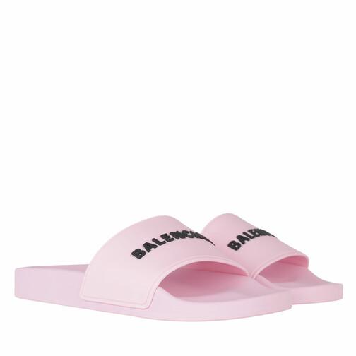 Balenciaga Slipper & Pantoletten - Slide Logo Sandals - in rosa - für Damen