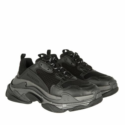 Balenciaga Sneakers - Triple S Sneakers Metallic Effect - in schwarz - für Damen