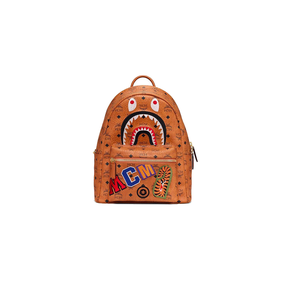 Brands-Other x MCM Monogram Leather BAPE Backpack Cognac (2019)