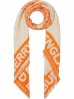 Burberry Schal mit Logo-Print - ORANGE